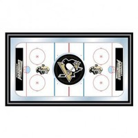 Trademark Global NHL Pittsburgh Penguins Framed Hockey Rink Mirror - NHL1500-PP - All Wall Art - Wall Art & Coverings - Decor