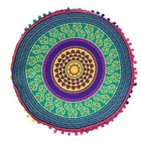 DCCKU7Q home decorative throw pillow Mandala Floor Pillows Round Bohemian Meditation Cover