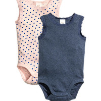 H&M 2-pack Sleeveless Bodysuits $9.99