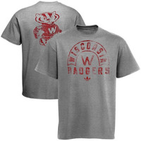 Wisconsin Badgers adidas Originals Tri-Blend Trefoil Issue T-shirt - Gray