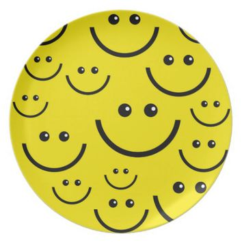 Yellow Smiley Face Plate