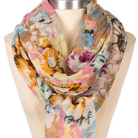 Classic Watercolor Floral Scarf