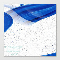 Canvas print, blue canvas print, blue painting, blue art, blue and white canvas abstract canvas, Home décor, wall art, wall hanging,wall art