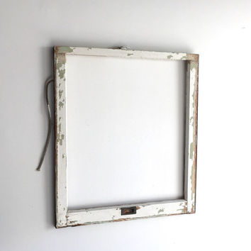 NO GLASS Vintage 1 Pane Window Frame - 28 x 32, White, Rustic, Antique, Wood, Wedding, Engagement, Home, Picture, Holiday, Decor, Wall Art