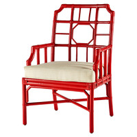 Regeant Accent Chair, Antiqued Red, Accent & Occasional Chairs