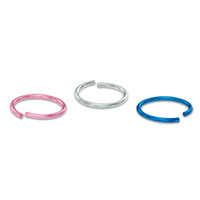 020 Gauge Multi-Color Nose Ring Set in Stainless Steel - - View All - PAGODA.COM