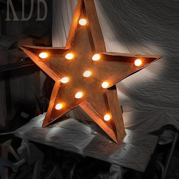 Marquee lighted Star signs