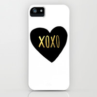 XOXO x Gold iPhone & iPod Case by Leah Flores | Society6