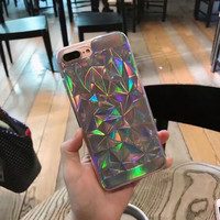 Laser Transparent Iphone Cases For 7plus 6s Plus