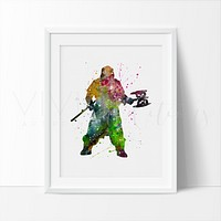 Gimli, Lord of the Rings Watercolor Art Print