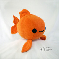 Plush Goldfish Plushie Sewing Tutorial - Fish Pattern PDF DIY