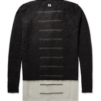Rick Owens - Colour-Block Mohair-Blend Sweater