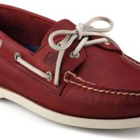 Sperry Top-Sider Authentic Original 2-Eye Boat Shoe RedLeather, Size 12W  Men's Shoes