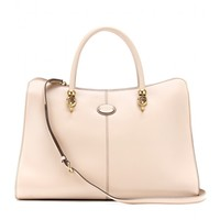 tod's - sella shopping large leather shoulder bag