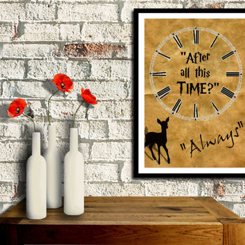 Harry Potter Poster, After all this time......ALWAYS! clock face