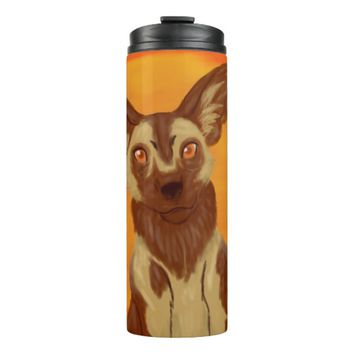African Wild Dog Thermal Tumbler