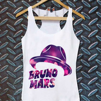 bruno mars hat best customized design for Tank top Mens and Tank top Girls , sizes S - XXL