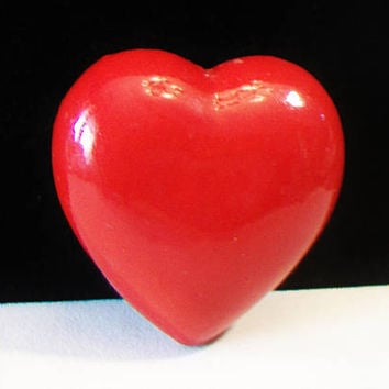 Red Puffy Heart Valentine's Day Crafting Supplies Romantic Home Decor Accent Piece