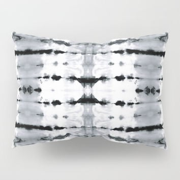 BW Satin Shibori Pillow Sham by ninamay