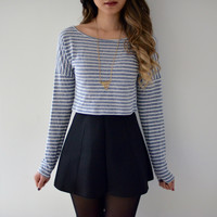 Striped Thin Light Blue Sweater