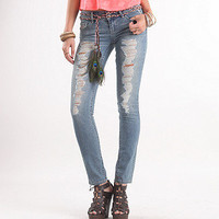 Belted Skinny Jeans