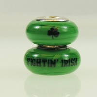 Notre Dame Fighting Irish College Beads and Charms Fit Pandora Style Bracelets. College Jewelry