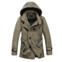 The Reed Hooded Short Trench Tan