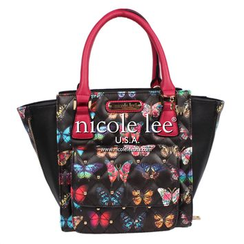 COLORFUL BUTTERFLY PRINT HANDBAG - NEW ARRIVALS