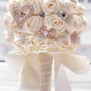 Beautiful Rose Wedding Bouquet or Bridesmaids Flowers