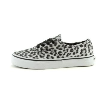 Womens Vans Authentic Skate Shoe, White/Leopard, at Journeys Shoes