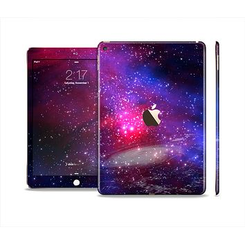 The Vivid Pink Galaxy Lights Skin Set for the Apple iPad Air 2