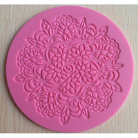 Silicone Lace Fondant Mat Mold Sugar Candy Cake Decorating Mould Baking Tool Hot