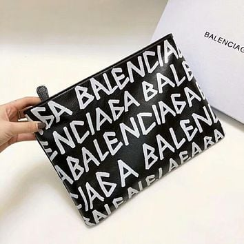 "2018 Hot !""Balenciaga"" Graffiti Series Stylish Women Leather Handbag Bag Cosmetic Bag + Gift Box I-AGG-CZDL"
