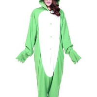 Green Adults Frog Cosplay Costume Onesuits Pajamas