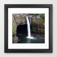 Rainbow Falls Framed Art Print by Photography By Pamela