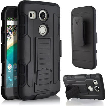 Rugged Armor Hybrid Impact Matte Belt Clip Holster Stand Hard PC+Soft TPU Phone Cover For LG G2 G3 G4 G5 V10 K7 K8 K10 Google 5X