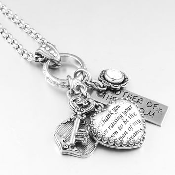 Mother of the Groom Heart Necklace