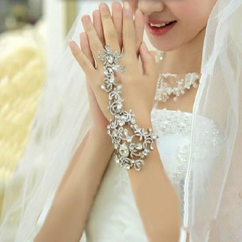 Hair Wedding Accessories Chain Bracelet Bridal Rhinestone