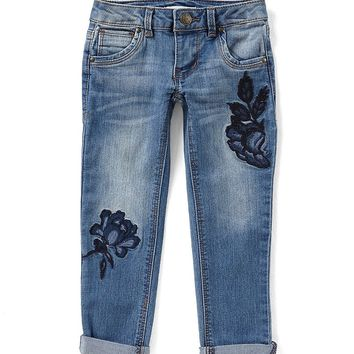Copper Key Little Girls 4-6X Floral-Embroidered Jeans | Dillards