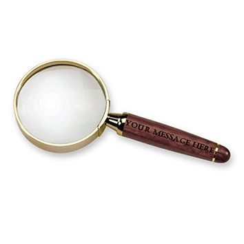 Magnifying Spy Glass, Rosewood with Custom Engraving Personalized Gift