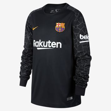 KUYOU Barcelona 2017/18 Away Goalkeeper Men Long Sleeve Soccer Jersey Personalized Name and Number