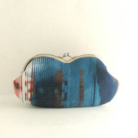 Abstract Printed Sunglass Case - Eyeglass Pouch - Glasses Case - Clutch Purse - Womens Purse - Cosmetic Purse - Purse Accessories