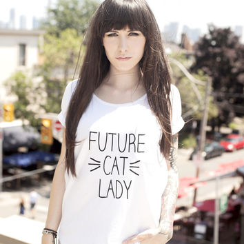 Future Cat Lady Women's Scoop Neck T-shirt