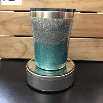 Glitter Tumbler - Bling Tumbler - Two Colored Tumbler - 10 oz Low Ball - Ombre -Made to Order