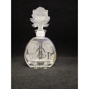 Rose Cut Perfume Bottle With Lid