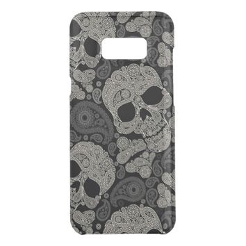 Sugar Skull Crossbones Pattern Get Uncommon Samsung Galaxy S8 Plus Case