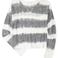 Aeropostale Womens Long Sleeve Stripe Knit Top
