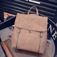 Retro Leather Travel Shoulder Bag Women Satchel Backpack School Bags Handbag Gift
