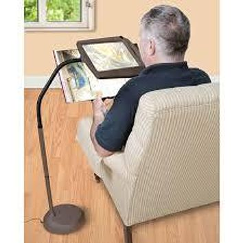 Hands Free 3x Magnifying Reading Glass Lamp with Light