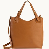GiGi New York Olivia Shopper Saddle Pebble Grain Leather